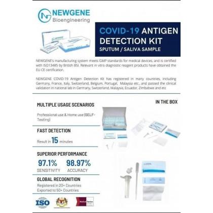 **SPECIAL DEALS: NEWGENE BIOENGINEERING Covid-19 Antigen Detection Test Kit (Saliva & Nasal Test Kit) - 1 Test/Unit