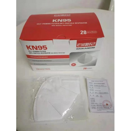 KN 95 Protective Face Mask Multilayer Isolation Filtration 20PCS PER BOX (NON-MEDICAL)